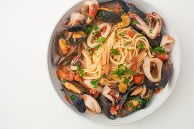 national seafood month   seafood pasta recipe   the town dock calamari