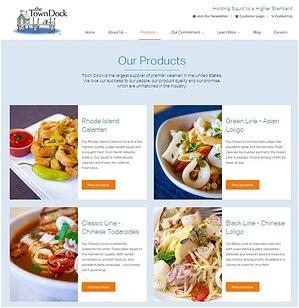 Our Products | Calamari Supplier | The Town Dock