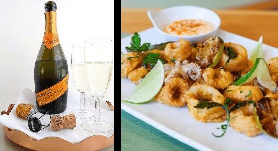 Prosecco Wine & Calamari Pairing   The Town Dock