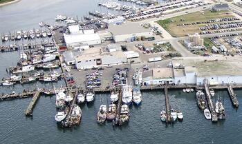 the town dock narragansett rhode island aerial view