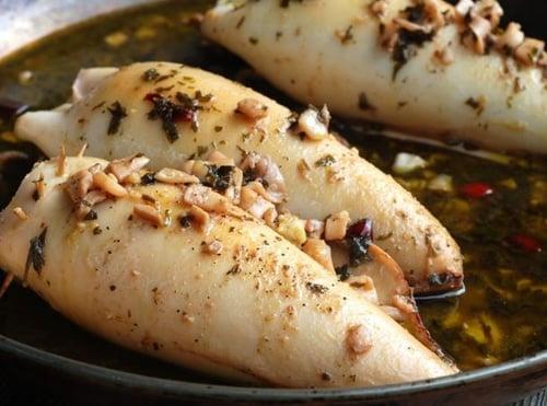 Bread Crumb Stuffed Squid Recipe | The Town Dock | Rhode Island