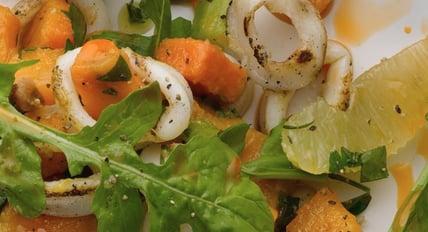 squid sweet potato lemon salsa | the town dock calamari